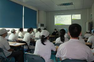 龙华区疾病预防控制中心来我司进行噪声作业职业知识培训